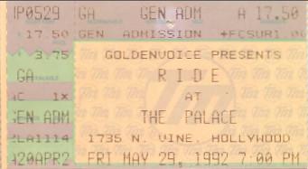 Ride, Palace