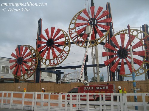 Under construction: New Luna Park, Coney Island's soon-to-be famous gate.  May 22, 2010. Photo © Tricia Vita/me-myself-i