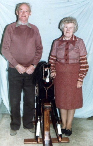Nana & Grandad with Black Prince, 1981