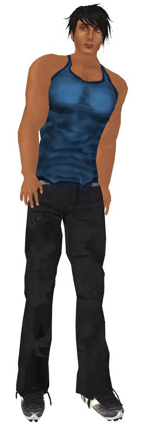 Zeery Blue Silk Tank, 22769 Julian skin