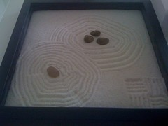 Terrible photo of my zen sand garden