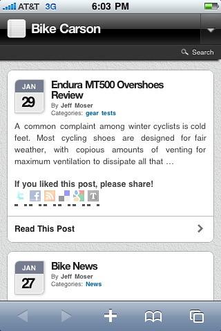 BikeCarson.com Mobile