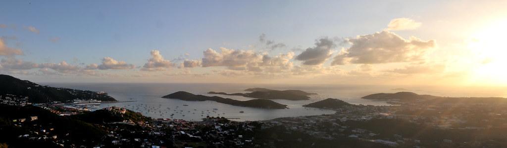 Sunset over Charlotte Amalie