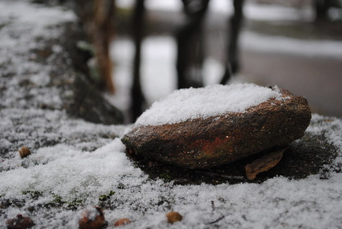 Snow on a Rock