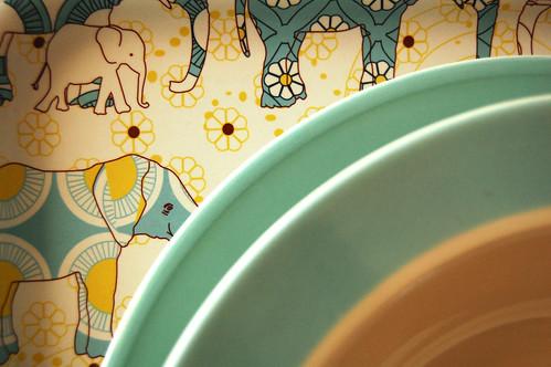 Dishes + Ikea tray.