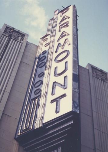 Paramount Theatre Sign Boston 1984