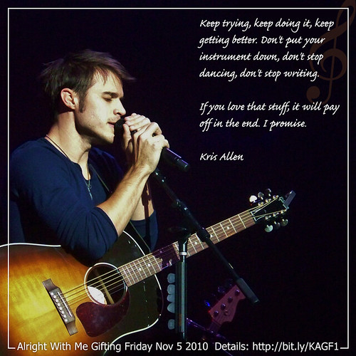 Kris Allen Alright With Me Gifting Friday