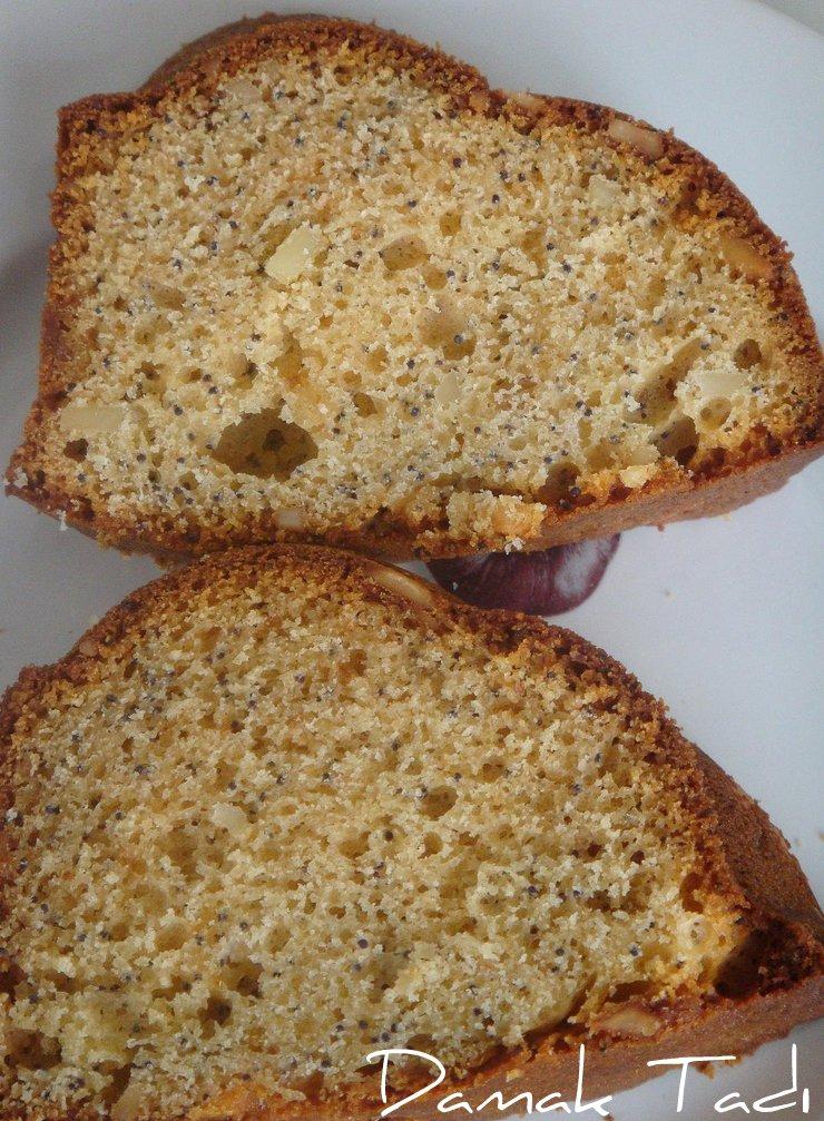 Haşhaşlı-Marzipanlı Kek