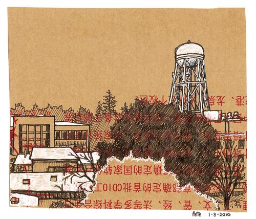 uc davis, on a chinese envelope
