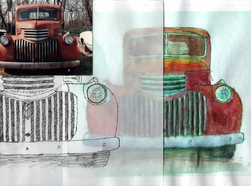 Composite from Photo to Watercolor.