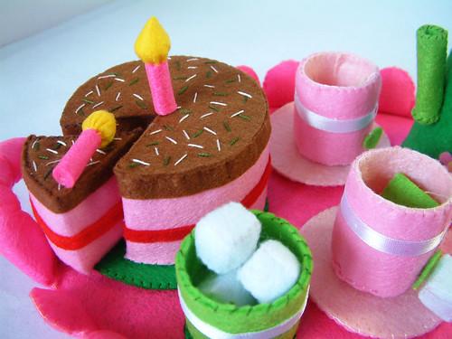 felt food pattern,cake,toy,etsy,tea time,etsy,fairyfox