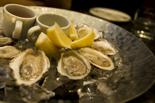 Oysters with Apple Cider Mignonette