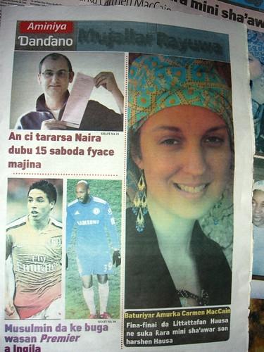 Interview with me in last week's Aminiya (2/5)