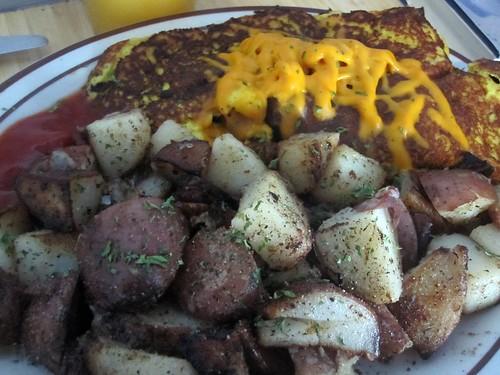 Wayward Cafe Vegan Sham & Cheddar Cheese Omelette