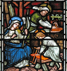 The Holy Family engaged in Work