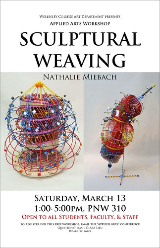 Sculptural Weaving Poster