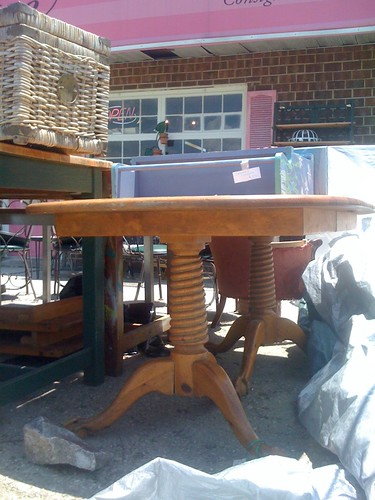 the estate of things chooses antique pine table