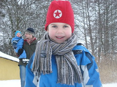 Ausflug an den Lübbesee: Schnee, Schnee, Schnee