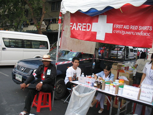 first aid station for red shirts