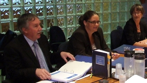Queensland Teachers' Union reps at Queensland Industrial Relations Commission conference re NAPLAN testing, 100419