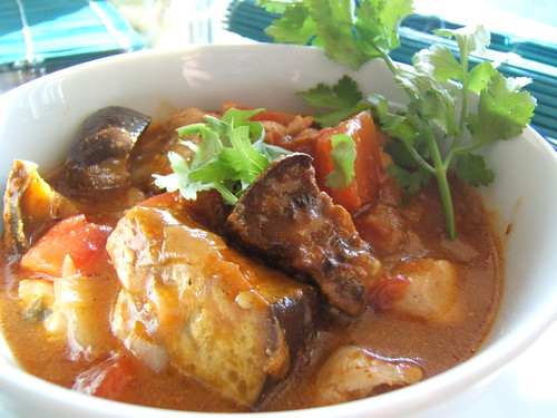 Eggplant and Tomatoes Curry