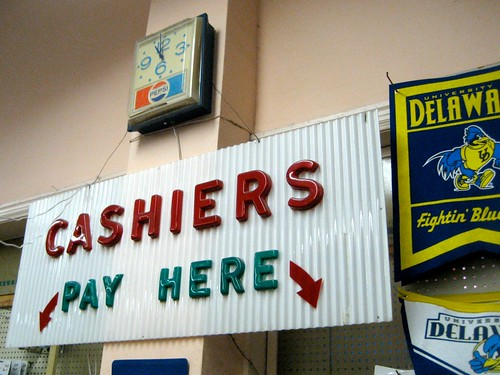 Cashiers Pay Here