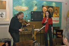 Andrea Gerak & Zoltan Lantos at IF Cafe, Budapest, 2010 Oct - #4