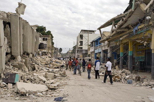 Downtown Port-au-Prince in Ruins After Quake