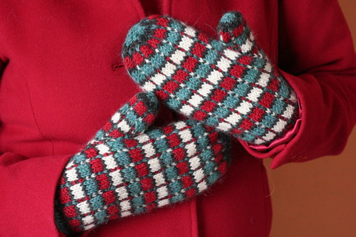 1960s Wool Plaid Mittens