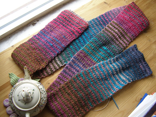 pink noro scarf
