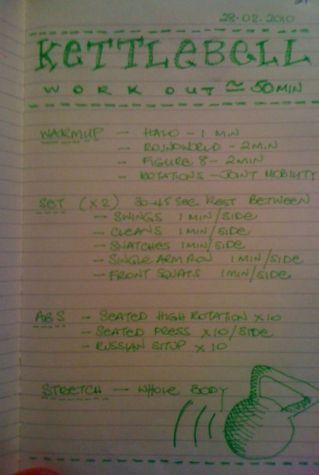 11-2010 // Workout journal