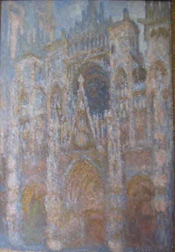 Claude Monet, Cathedrale de Rouen soleil matinal, harmonie bleue, 1894