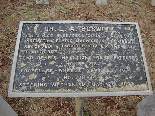 Dr. L. A. Boswell, Inventor of Flying Machine in 1890s