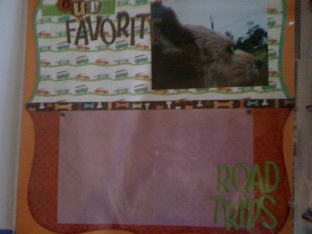our favorite road trips scrapbook