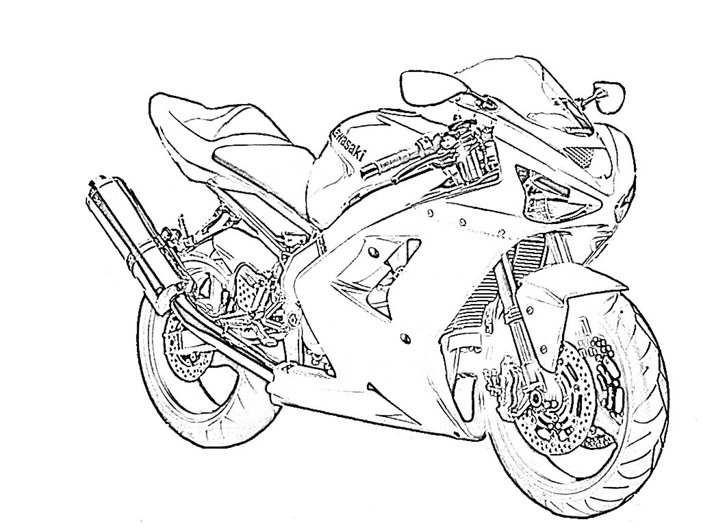 Zx6r Outline For Coloring