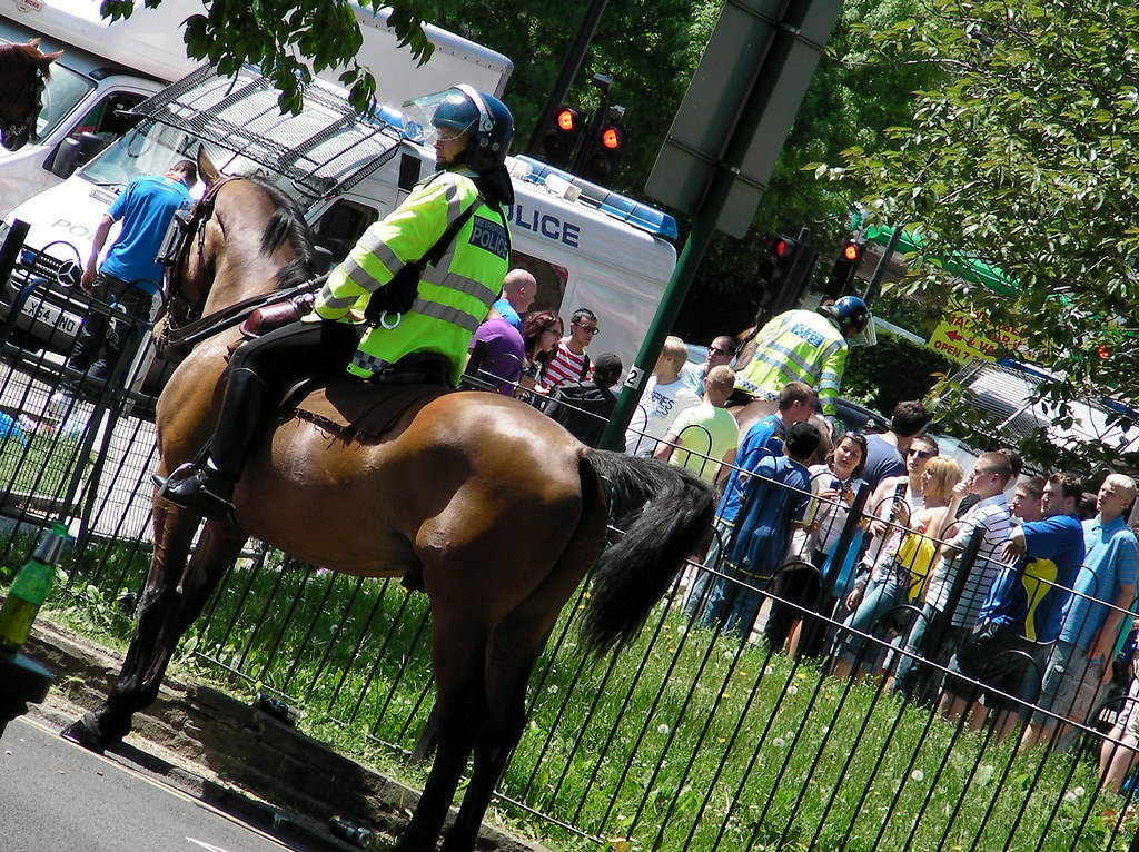 Wembley-Blackpool v Cardiff-Policing prematch
