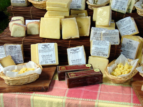an array of cheeses