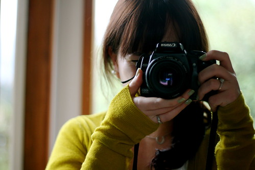 Things I love - Chartreuse and my Camera