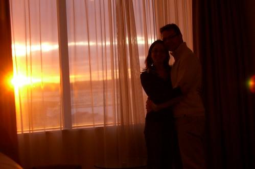 Anochece en el hotel