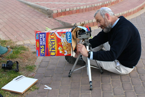 Setting up binoculars
