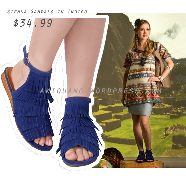 Sienna Sandals in Indigo