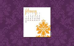February Computer Desktop Wallpaper/Calendar