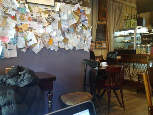 Переместился в кафе Студии Лебедева.
