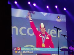 2010 VANCOUVER WINTER OLYMPICS | THE CHAMPIONS OF THE GAMES :: ALEXANDRE BILODEAU GOLD MEDAL CEREMONY 1