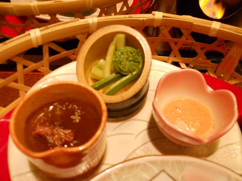 Tofu and mountain vegetable