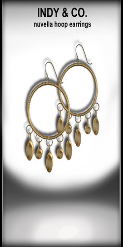 Indy&Co. Nuvella hoops gold