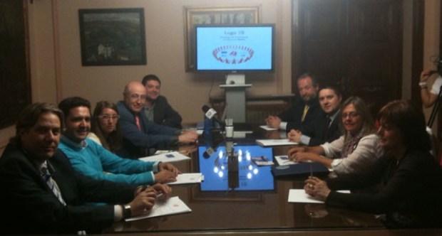 Presentando Lugo 10 en el Ayuntamiento