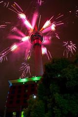 Firework, Sky Tower, Auckland