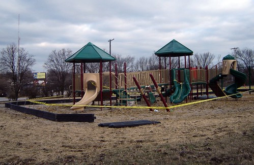 Breslin Park playground, under construction