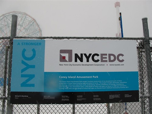 NYCEDC Signs for New Coney Island Amusement Park. Photo © Bruce Handy/Pablo 57 via flickr